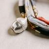 Seidenschnur mit Eichel Anhänger in 925/Silber